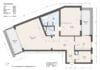 Bezugsfertig und renoviert: 3,5-Zimmerwohnung mit zwei Balkonen in Münchens Top-Lage - Grundriss