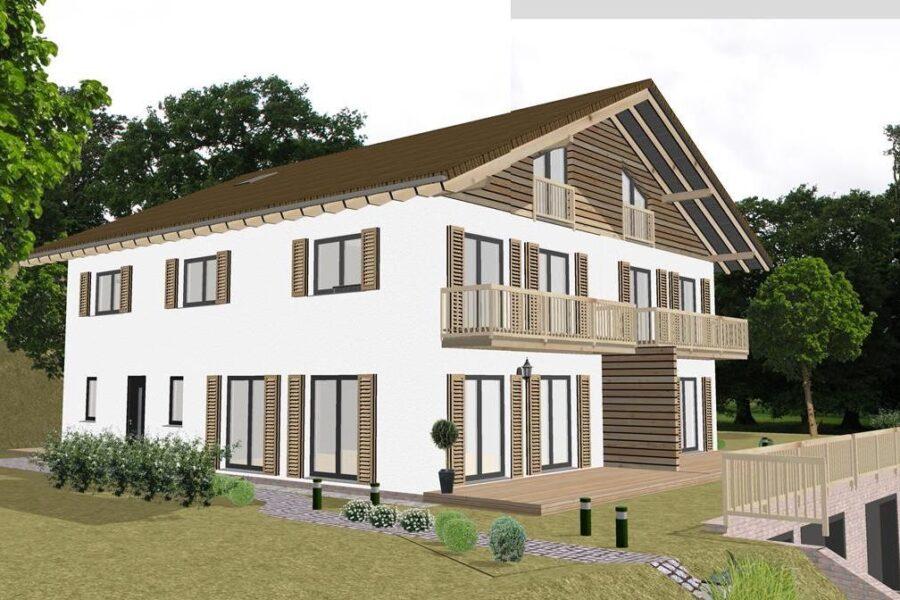 Neubau: Luxuriöse Doppelhaushälfte am Tegernsee (Südseite), 83707 Bad Wiessee, Haus