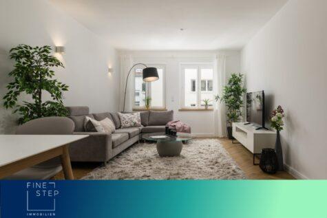 Renoviert und vollständig möbliert: Traumhafte 3-Zimmer Wohnung im Herzen von Schwabing, 80801 München, Etagenwohnung